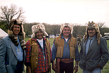 First nations people at a heritage event