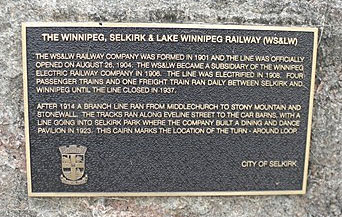Plaque in Selkirk, Manitoba