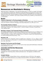 Link to download Resources of Manitoba's History